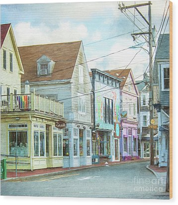 Commercial St #1 Wood Print
