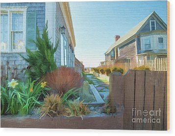Commercial St. #4 Wood Print