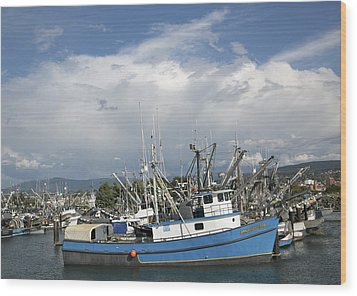 Wood Print featuring the photograph Commerical Fishing Boats by Elvira Butler