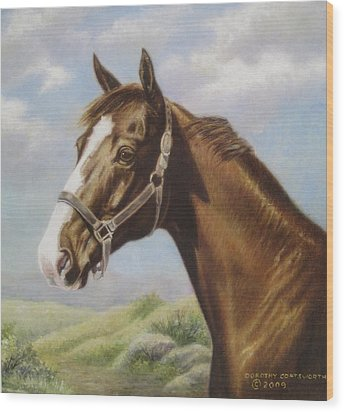 Commission Chestnut Horse Wood Print by Dorothy Coatsworth
