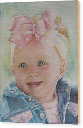 Commissioned Toddler Portrait Wood Print