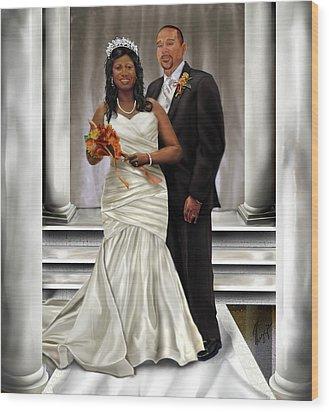 Commissioned Wedding Portrait  Wood Print by Reggie Duffie