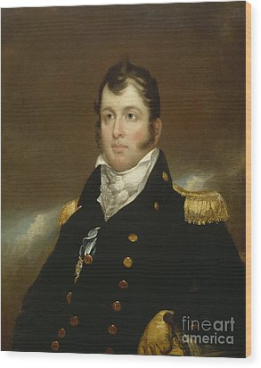 Commodore Oliver Hazard Perry Wood Print by John Wesley Jarvis