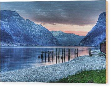 Como's Lake Wood Print by Andrea Barbieri