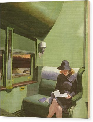 Compartment C Wood Print by Edward Hopper