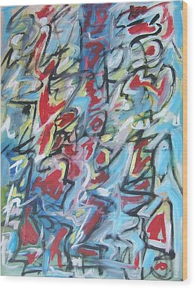 Composition No 7 Wood Print by Michael Henderson
