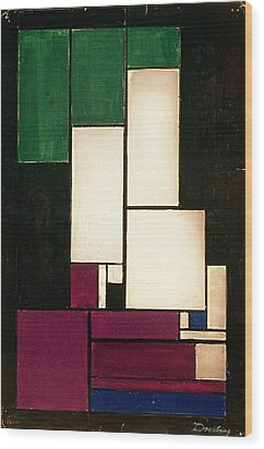 Composition Wood Print by Theo van Doesburg