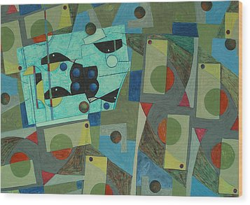 Composition Xxv 07 Wood Print by Maria Parmo