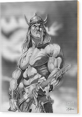 Conan Wood Print by Bill Richards