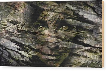 Concealed Emotions Wood Print by Tlynn Brentnall