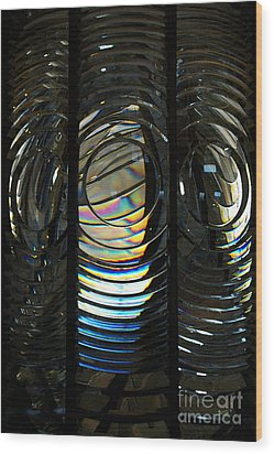 Concentric Glass Prisms - Water Color Wood Print
