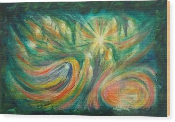 Conception Wood Print by Becky Chappell