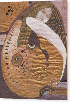 Wood Print featuring the painting Conception Dream by Maya Manolova