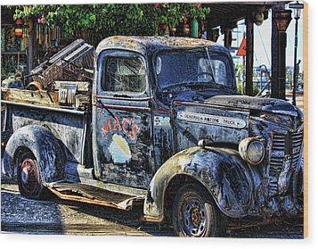 Conch Truck Wood Print by Joetta West