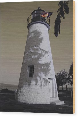 Concord Point Light Wood Print by Gordon Beck