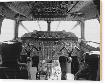Concorde Cockpit Wood Print by Patrick  Flynn