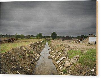 Concrete River 2 Wood Print by Matthew Angelo