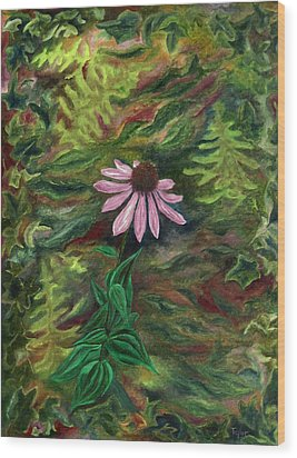 Coneflower Wood Print by FT McKinstry