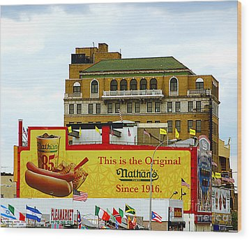 Coney Island Memories 9 Wood Print by Madeline Ellis