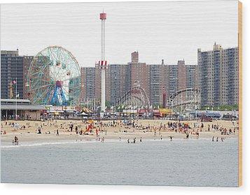 Coney Island, New York Wood Print by Ryan McVay