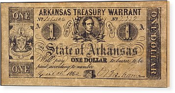 Confederate Banknote Wood Print by Granger