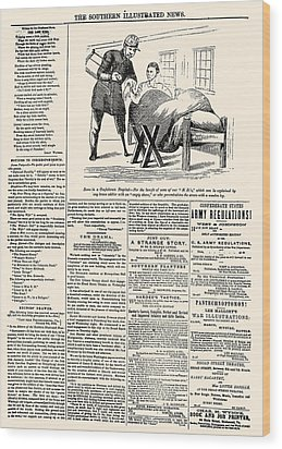 Confederate Newspaper Wood Print by Granger