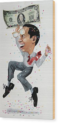 Confetti Man Wood Print by Denny Bond