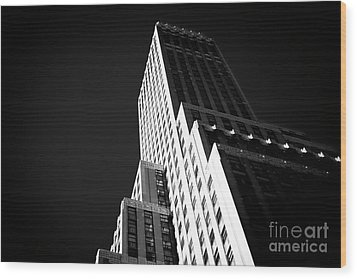 Conflict In The City Wood Print by John Rizzuto