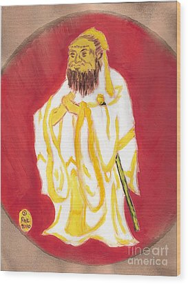 Confucius Wisdom Wood Print by Richard W Linford