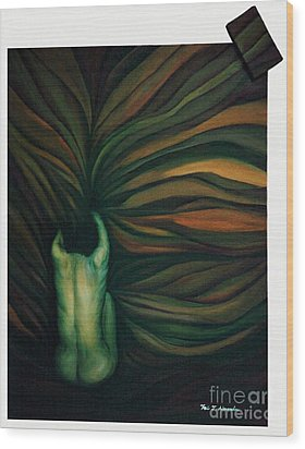 Wood Print featuring the painting Confused by Fei A