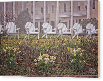 Congress Hall Spring Wood Print