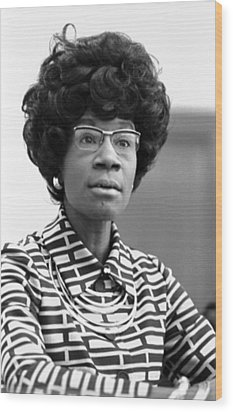 Congresswoman Shirley Chisholm Wood Print by Everett