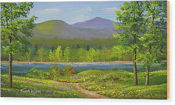 Wood Print featuring the painting Connecticut River Spring by Frank Wilson