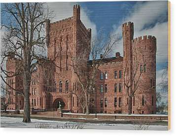 Wood Print featuring the photograph Connecticut Street Armory 3997a by Guy Whiteley