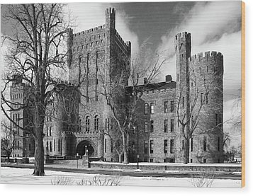 Wood Print featuring the photograph Connecticut Street Armory 3997b by Guy Whiteley