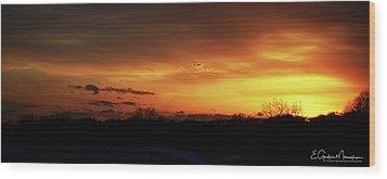 Connecticut Sunset Wood Print by Gordon Mooneyhan