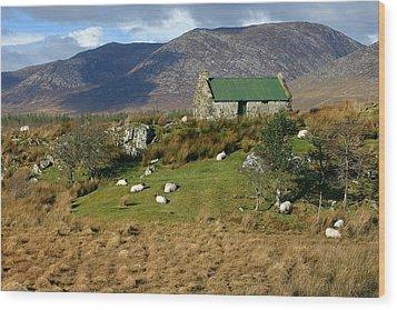 Connemara Cottage Ireland Wood Print by Pierre Leclerc Photography