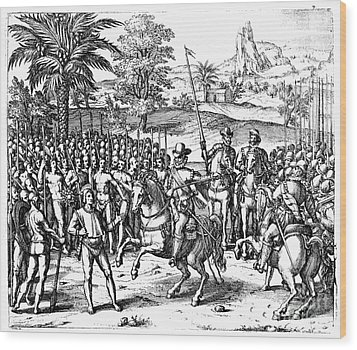 Conquest Of Inca Empire Wood Print by Granger