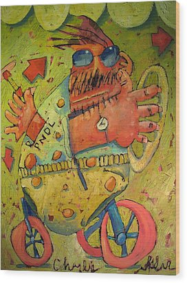Conscientious Perambulator Wood Print by Charlie Spear
