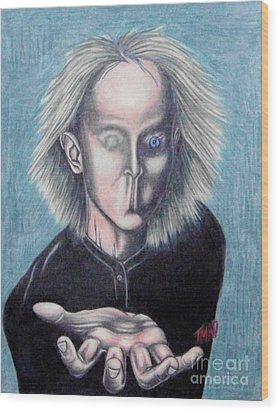Wood Print featuring the drawing Consciousness by Michael  TMAD Finney