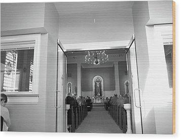 Lenten Sunday Mass Consecration Wood Print