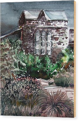 Conservatory Gardens In Scotland Wood Print by Mindy Newman