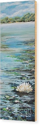 Considering Lily Wood Print by Michele Hollister - for Nancy Asbell
