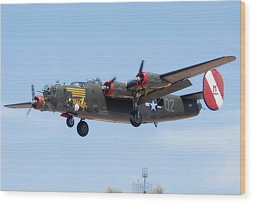 Consolidated B-24j Liberator N224j Witchcraft Deer Valley Airport Arizona April 20 2011  Wood Print