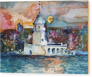 Constantinople Turkey Wood Print by Mindy Newman