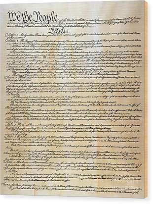 Constitution Wood Print by Granger