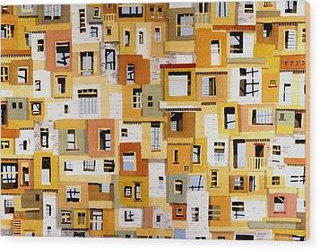 Construction 30 Wood Print by Ashley Lathe