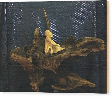Wood Print featuring the photograph Contemplation by Carolyn Cable