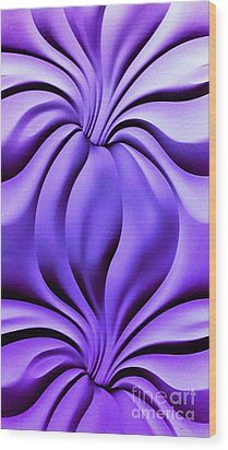 Wood Print featuring the photograph Contemplation In Purple by Roberta Byram