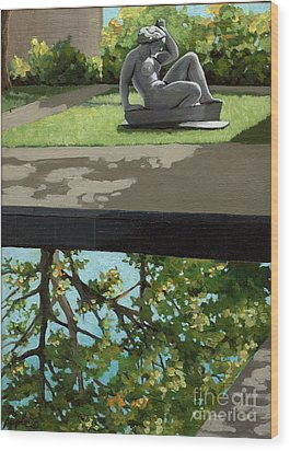 Contemplation Wood Print by Linda Apple